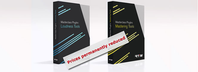 Prices for RTW Masterclass PlugIns permanently reduced