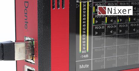 Nixer PD-Dante: Diagnostic system for Dante™ or AES67 streams